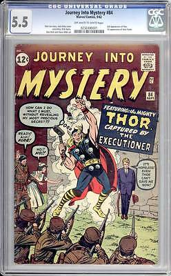 Journey into Mystery # 84  Captured by the Executioner !  CGC 5.5 scarce book !