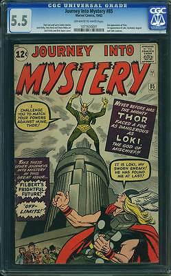 Journey into Mystery # 85  First appearance of Loki !  CGC 5.5 scarce book !