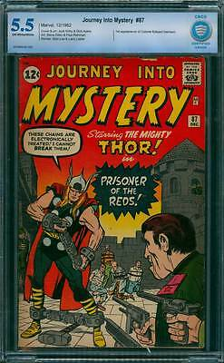 Journey into Mystery # 87  Prisoner of the Reds !  CBCS 5.5 scarce book !