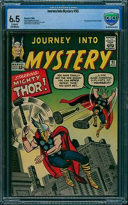 Journey into Mystery # 95  Far More Powerful Duplicate !  CBCS 6.5 scarce book !