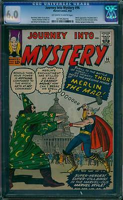 Journey into Mystery # 96  The Power of Merlin the Mad !  CGC 6.0 scarce book !