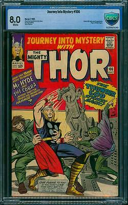 Journey into Mystery # 106  The Thunder God Strikes Back !  CBCS 8.0 scarce book