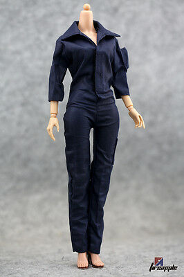1/6th Coverall Female Agent Clothing Thinny Girl Body Clothes F KUMIK Body