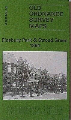 OLD Ordnance Survey  Maps Finsbury Park & Stroud Green London 1894 S20 Brand New