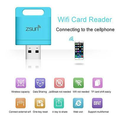ZSUN Mobile Phone Extend Disk Wifi Wireless Memory Card Reader For iPhone 6 L PK
