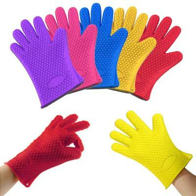 Kitchen Heat Resistant Silicone Glove Oven Pot Holder Baking PKQ Cooking Mitt PK