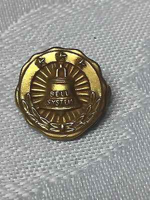 P25- VINTAGE BELL SYSTEM TELEPHONE ADVERTISING GOLD SERVICE PIN 10k GF
