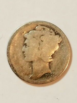 1921 Mercury Dime Old U.S. Rare Date Type Coin 10 Cents Silver