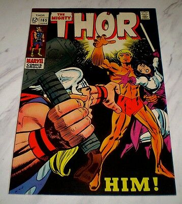 Thor #165 NM- 9.2 White pages 1969 Marvel 1st full Him appearance (Warlock)