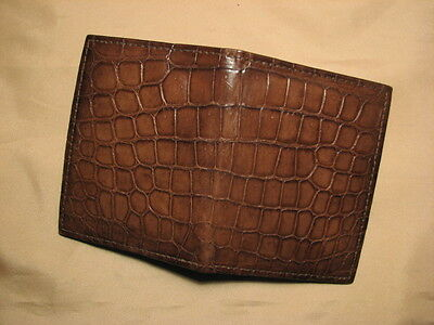 New Handmade Genuine Brown Alligator/Crocodile Card Holder