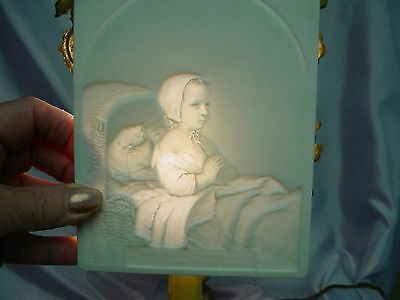Antique KMP LITHOPHANE Porcelain KPM Light CHARMING