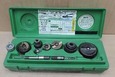 "AS-IS Greenlee Quick Draw Knock-Out Punch Set 1/2""- 2""  USED"