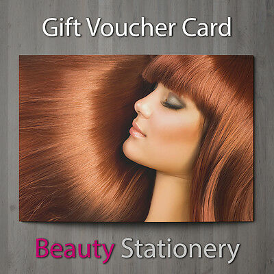 Gift Voucher Beauty Salon Blank Card Coupon Hair Salon Hairdressing A7 + Env.