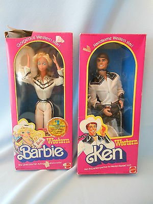 Western Barbie and Ken box Mattel 3600 1757 1980
