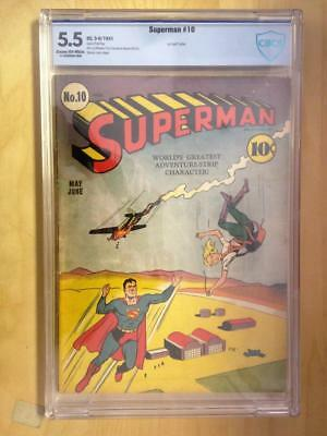 Superman #10    CBCS 5.5     1st Bald Luthor     Cream/Off White Pages