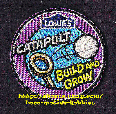 LMH PATCH Badge  2010 CATAPULT  Ping Pong Ball LOWES Build Grow Kid's Clinic