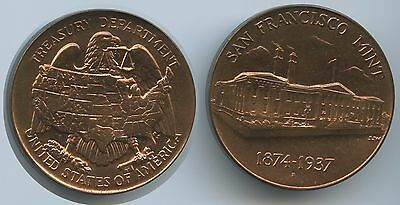 M918 - Medaille Old San Francisco Mint 1874-1937 United States of America