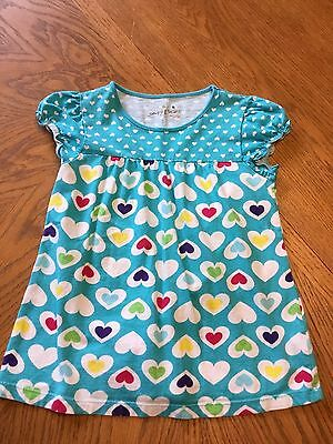 Girl's Jumping Beans Short Sleeve Top Size 6 Blue Hearts