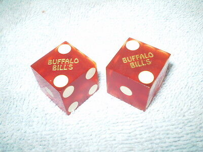 Vintage Buffalo Bill's Casino Dice 521 & 245