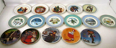 Lot (16) Christmas Holiday Winter Collector Plates Avon Knowles Hummel