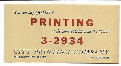 1920s Birmingham Alabama Letterpress Printers' Blotters collection of 8 HOT TYPE