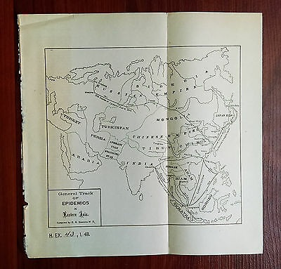 1885 General Track Epidemics East Asia Chinese Empire Japan Ilds D.B. Simmons MD