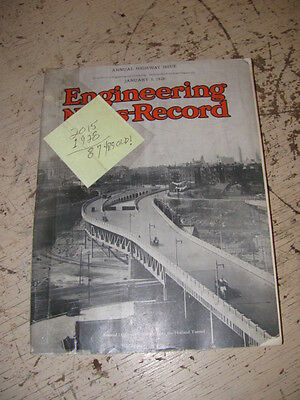 Jan. 5 1928 Engineering News Record Construction Magazine Bosch Magneto Lombard