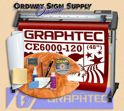 "Graphtec 48"" CE6000 120 Vinyl Plotter Cutter w Stand & Accessories 2 yr Wnty OBO"