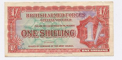 Wwii British Armed Forces One Shilling Note