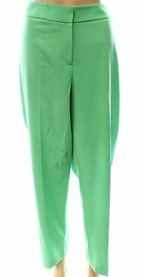 Nine West NEW Green Women's 16X29 The Skinny Flat-Front Dress Pants $79- #213