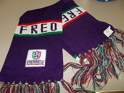 Fremantle Dockers - Wollen Scarf With Club Patch -  Official Afl Merch