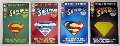 4 1993 DC Reign of the Supermen Comic Books Return of Superman Action Adventures