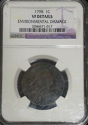 1798 US Large Cent NGC VF Details Rare!!!