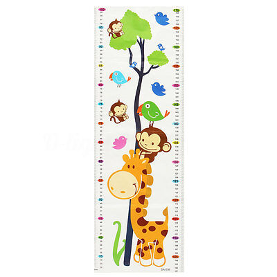 Autocollant Mural Sticker Cartoon Girafe Toise Mesure Hauteur Enfant Height DIY
