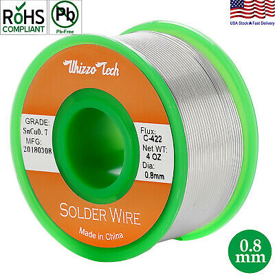 Lead Free Solder Wire Sn99.3 Cu0.7 with Rosin Core for Electronic 3.5oz 0.8mm