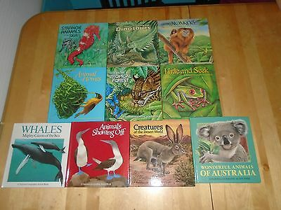 Set National Geographic ACTION BOOKS vintage Pop-up Animal series