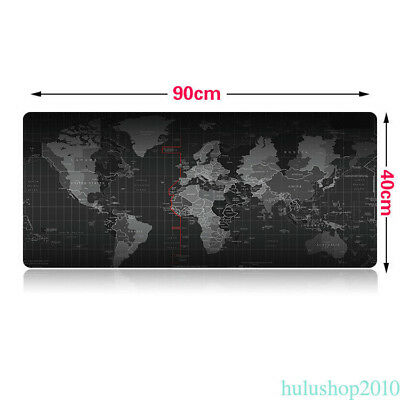Extended Gaming Mouse Pad Large Size 900 x 400 MM World Map Mousepad Game Edge