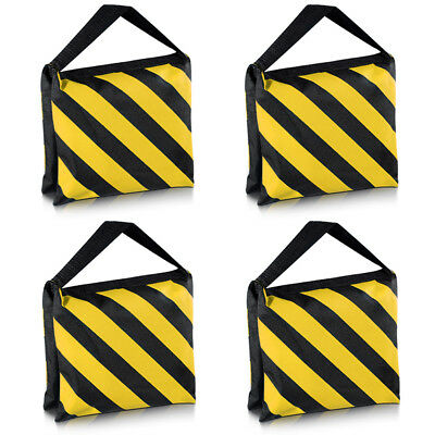 Neewer 4X Black/Yellow Heavy Duty Sand Bag Photography Studio Sandbag