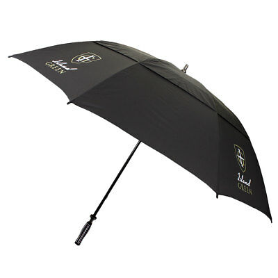 Island Green 2016 Double Layer Canopy Fibre Glass Golf Umbrella - Black