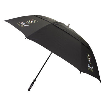 Island Green Double Layer Canopy Fibre Glass Golf Umbrella - Black