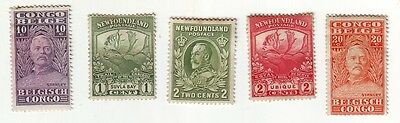 Old World * Local Postage Bob == 4==  Foreign  Mint + 1 Used