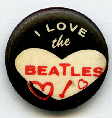 The Beatles 1964 I love the Beatles Green Duck Co. Original Button