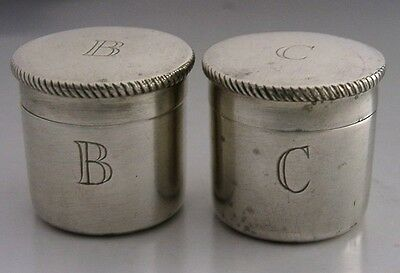 Unusual English Sterling Silver Priest's Boxes Cased 1952 Religious