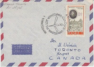 Poland - Inaugural Flight of LOT Airlines from Warsaw to Toronto (Air SC) 1972