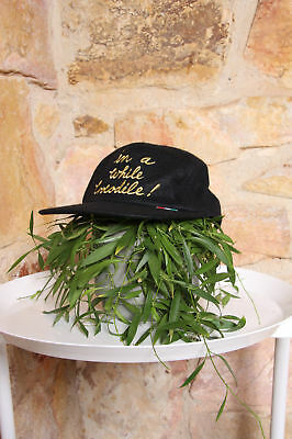RARE Vintage MOSCHINO 'In a While Crocodile' Hat