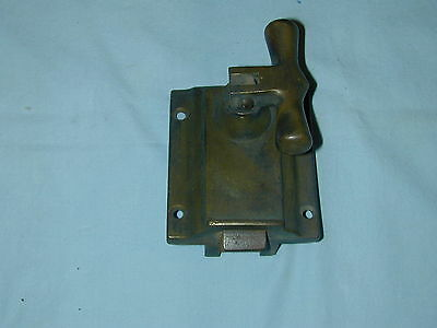 Antique Large Brass Heavy Duty Cupboard Door Latch