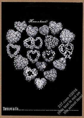 1966 Tiffany's jewelry Valentine's Day heart pin 20 style photo vintage print ad