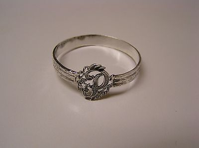 Napkin Ring with a ( Initial ( P ) Sterling Silver
