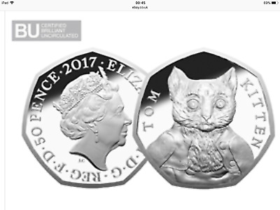 """in Hand"" Certified Bu 50P Coin Tom Kitten Cheapest All In Price"