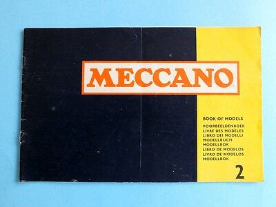 Meccano Bauanleitung Buch Book of Models  Nr. 2 60er in GB  26,5 x 17  26 S.